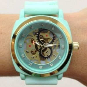 Anthropologie Mint Green Exposed Watch